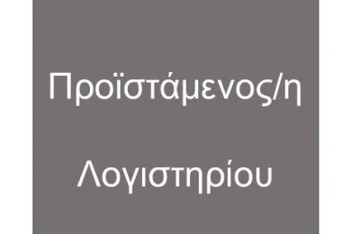 Προϊστάμενος/η Λογιστηρίου (FIN 1001), Βόλος
